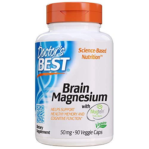 Doctor's Best, Brain Magnesium Vegetable Capsules, 60 Count