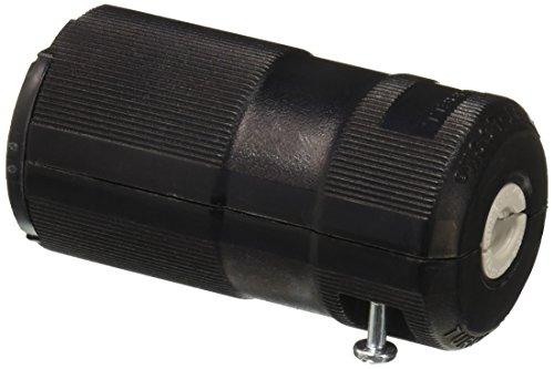 Hubbell HBL2323VBK Locking Valise Connector, 20 amp, 250V, L6-20R, Black