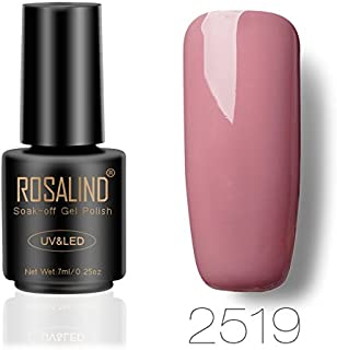 ROSALIND gel esmalte de uñas remojo UV LED esmalte manicura pedicura salón 7 ml (Nude color 3)