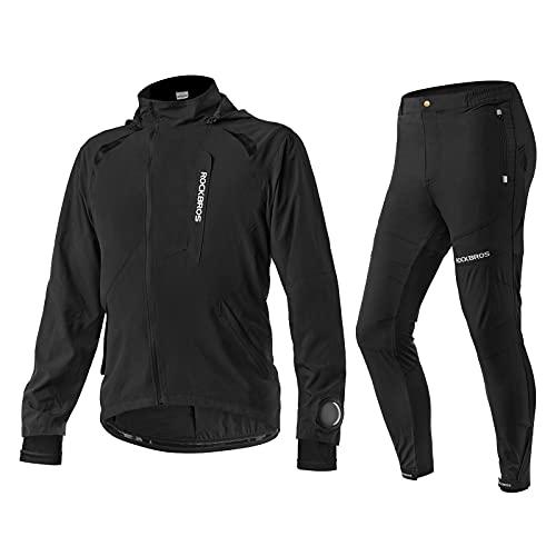 ROCKBROS Chaqueta/Pantalones Largos Transpirables Secados Rápido para Ciclismo Bicicleta MTB Running Deporte al Aire libre Hombre Mujer
