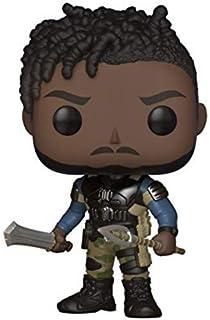 Muñeco con cabeza en movimiento de Funko POP! Figura coleccionable de Erik Killmonger de Black Panther (Marvel)