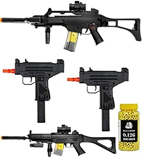 A&N Full Electric Airsoft Rifle Bundle- 4X Airsoft Electric Rifles- Pack of 2000 Yellow BB pellets