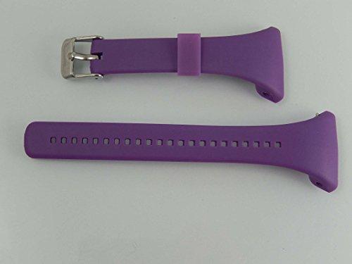 vhbw TPE Ersatz Armband L kompatibel mit Polar FT4, FT4f, FT4m, FT7, FT7m Fitnessuhr, Smartwatch - 11.5cm + 8.5 cm lila