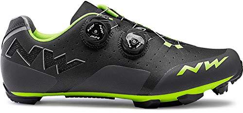 Northwave Rebel Road Zapatos Gris/Verde, Tamaño:gr. 42