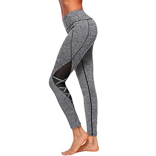 Femmes épissage Exercice Pour Soulever Les Fesses Taille Haute Pantalon de Yoga Serré Pantalon, Contrôle Du Ventre éLastique Tissu Extensible YUYOUG