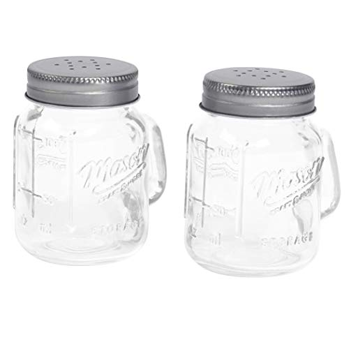 Mason Craft & More 373826 Salt and Pepper Shaker, Clear