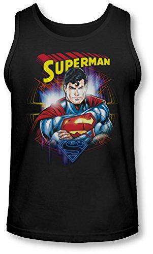 Superman - Glam Débardeur Homme -, Large, Black