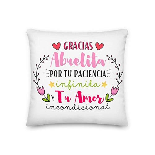 GS1 Honduras Kembilove Cojín para Abuela – Regalos Cojines Mujer Cumpleaños – Regalos Originales Cojines con Frase Gracias Abuelita Regalo día de la Madre
