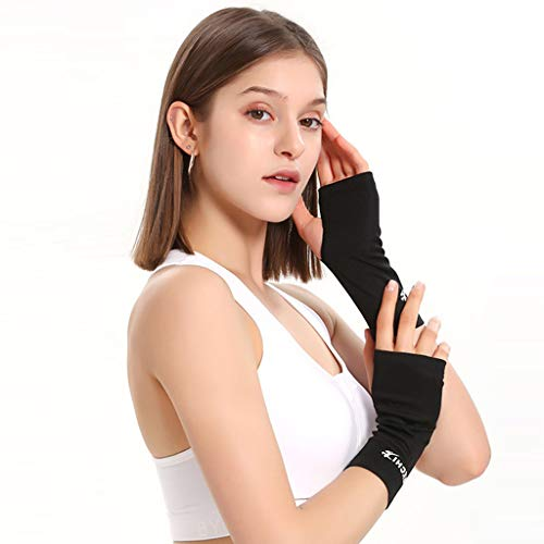 MOMFEI New Technology Compression Gloves Sleeves (Pair) for Carpal Tunnel Wrist and Pain Relief Treatment,Everyday Support for Wrist and Hands,Best Wrist and Hand Brace for Women and Men (Black-M)