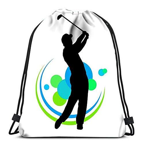JONINOT Bolsas de Lazo Silueta de Jugador de Golf con Mochila de Playa