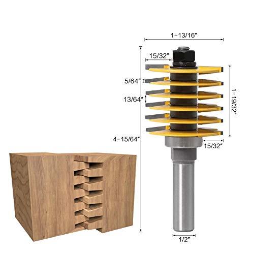 Bohrer Bitbohrer 8Mm 1/2Shank Router Bit Fingergelenk Zapfenfräser Messerschneider Holzbearbeitung-A