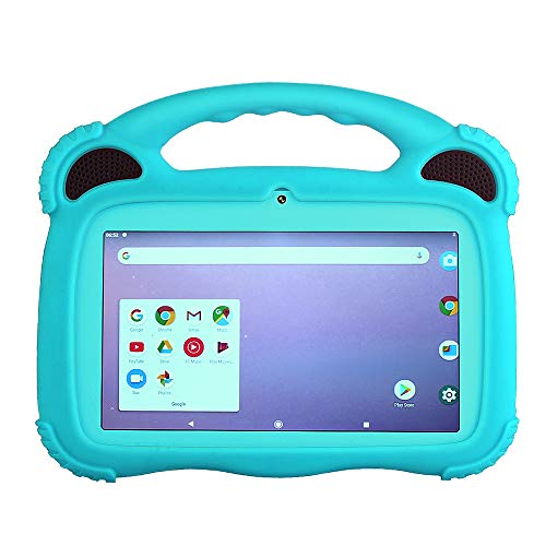 TOPOSH 7 Inch Kids Tablet PC Laptop Computer with Touch Screen, GMS Google Android 9.0, Quad Core 1.5 GHz, 2G RAM+16GB HDD, HD Display Screen, Dual Camera, Bluetooth 4.0 - Blue