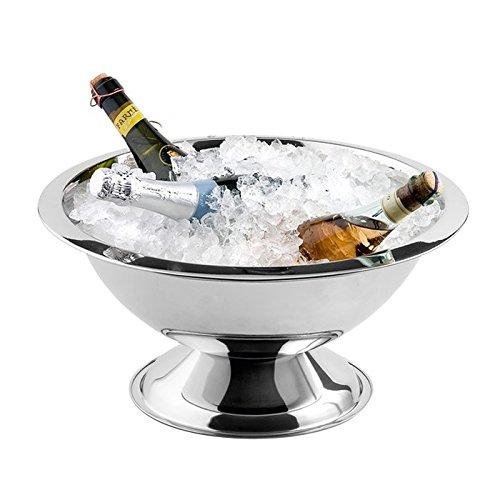 Weis 26830 Seau à Champagne, Acier Inoxydable, Argent, 38 x 38 x 25 cm