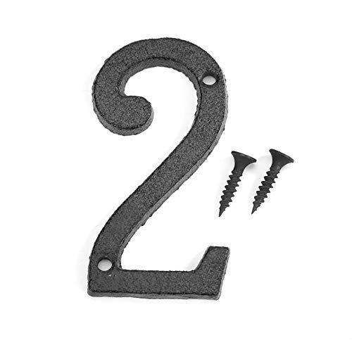 Domybest Hausnummer 0 – 9 aus Eisen, schwarz, Hausnummer der Rue Plakate, Schilder, Wand, Tür mit Befestigungsschraube