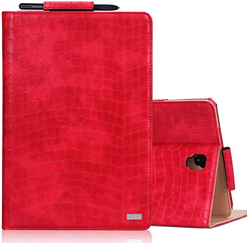 FYY Case for Samsung Galaxy Tab S4 10.5 2018, Premium Leather Protective Smart Galaxy Tab S4 Cover with Auto Wake/Sleep Kickstand Function and Pencil Holder for Samsung Galaxy Tab S4 10.5' (Red)