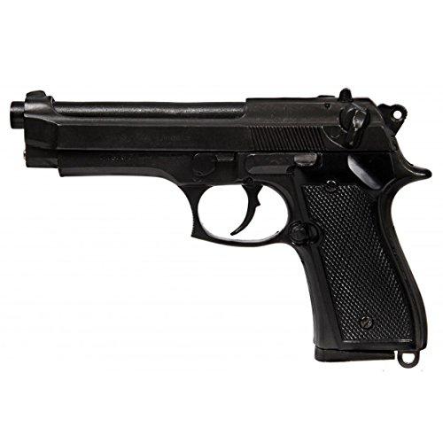 Denix Erwachsene Gefälschte Nachbildung der Beretta M92 Waffenreplik, schwarz, One Size