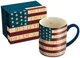 "LANG - 14 oz. Ceramic Coffee Mug -""Colonial Flag"", Art by Warren Kimble - Painted American Flag"