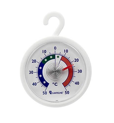 Lantelme 6574 redonda nevera – Congelador termómetro con gancho ...