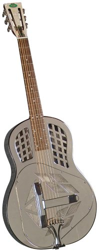 Regal RC-57 Metal Body Tricone Resophonic Guitar - Nickel-Plated Brass thumbnail image