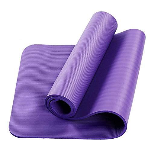 LANJIA Esterilla de Yoga para Ejercicio, Espuma para Ejercicios, Extra Gruesa, Antideslizante, Acolchada Grande, Alta Densidad para Pilates, Gimnasia, Estiramiento, Fitness y Entrenamiento