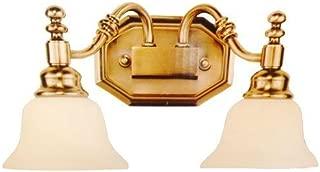 Trans Globe CB-34152 AN Bel-Air Bath Bar Light, Antique Nickel Housing, Frosted Glass Shade, 2 Lamps, 100 W Medium, Wall Mount