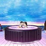 Miweba MSpa Aurora D-AU06 - Jacuzzi hinchable para exteriores, incluye LED RGB, para 6 personas