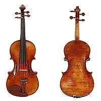 バイオリンセット 泡箱の炭素繊維の弓と4/4バイオリン手作りオイルワニス