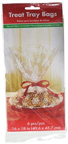 Christmas Snowflake Plastic Tray Bag, 6 Ct.   Party Supply