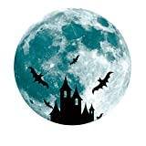 YYRZGW Glow in The Dark Moon 30cm Castillo de murciélagos brujos Luz Nocturna Brillantes Pegatinas de Pared Luminosas Adhesivo de Pared extraíble para niños Decoraciones de Dormitorio-Castillo b