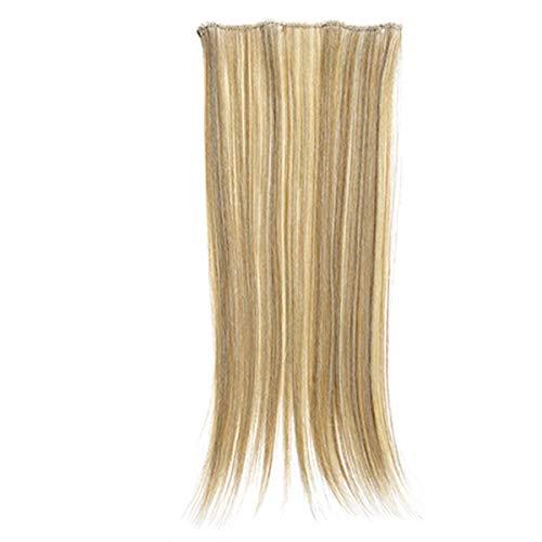 SANGRA HAIR Extensiones de cabello de fibra con memoria Lisas Pelo sintético 1 pieza 4 clips 40cm largo 30gr para mujer – Apto para plancha hasta 160ºC – Conserva estilo tras el lavado. (Negro (M1))