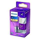 Philips Lampadina LED Sfera Filamento, Equivalente a 25W, Attacco B22, Luce Bianca Calda, non Dimmerabile