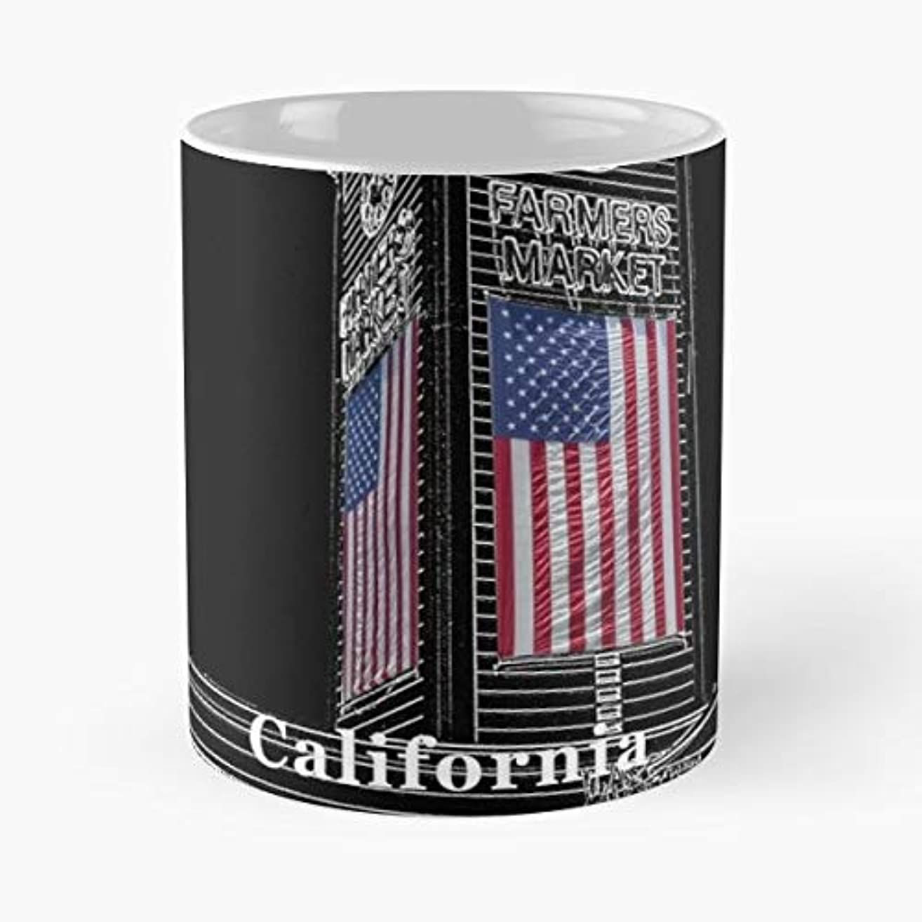 Downtown La Skyline Los Angeles - Coffee Mugs Unique Ceramic Novelty Cup