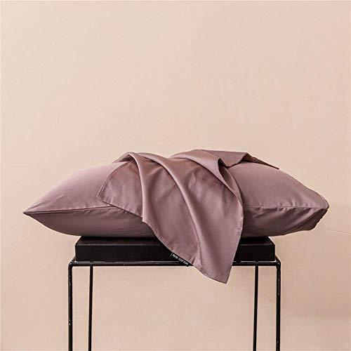 DOUP Cozy Bedroom Pair Pack Fundas DE Almohada, Algodón Puro de Fibra Larga, Color Puro, Tocado Simple, Funda de Almohada B-020_48 *...