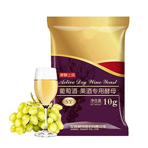 Droge wijngist 10g voor 50kg, cideralcohol Actieve droge gist Perfecte partnerbenodigdheden Thuis DIY Brouwen Gisting Saccharomyces Cerevisiae Gist voor wijnbereiding