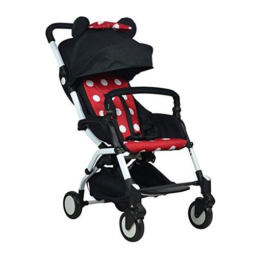 JIAO Carrito de bebé El Cochecito de bebé Ligero Puede mentir el Paraguas del bebé El Amortiguador Puede Estar en el avión BB Coche del niño fácil Llevar Plegable