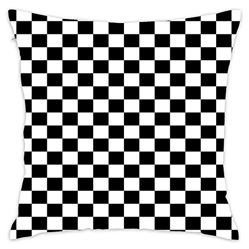 N\A Square Throw Pillow Cover Cushion Cover Pillow Case for Sofa Bedroom Car Decor Inch - Chequered Flag Checkered Racing Car Winner Bedspread Duvet Phone Case
