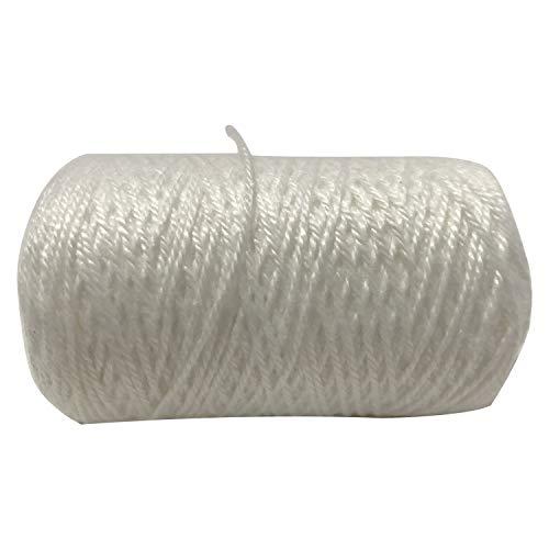 YADNESH Naaien Waxed draad Hand Naakkoord voor Leer Craft Jeans Naaien/Zak Sluiten/Stoel Borduurwerk, Matrasstikdraad voor alle industriële doeleinden (wit)