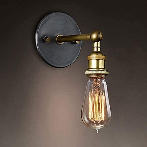 WDXJC 1 Pack Apliques Vintage Cabeza de Cobre E27 Reino Unido Enchufe Estándar Lámparas de Mesa Base de Hierro Moderno Antiguo Lámpara de Mesa Retro