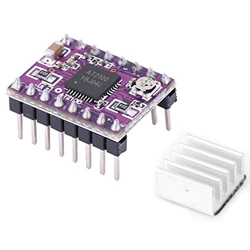 Victool Motor Drive Controller Board Module, Stepper Motor Driver Module AT2100 with Heat Sink For 3D Printer Robots Parts