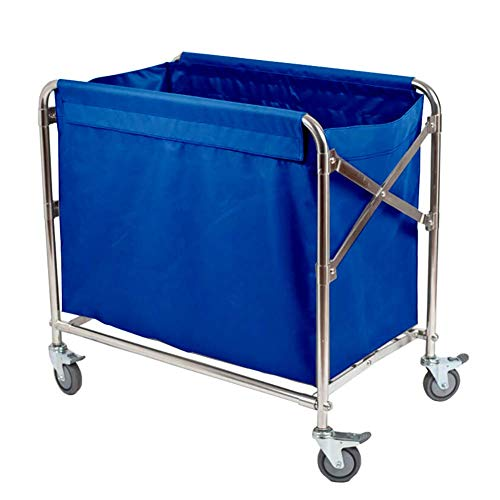 LJWJ Carts,Storage Car Service Car Utility Vehicle Multifunction Portable Trolley Home Cart Tool Folding Linen Rolling Cart, Hotel Laundry Sorter Cart with Universal Brake Wheel, Room Service Trolley