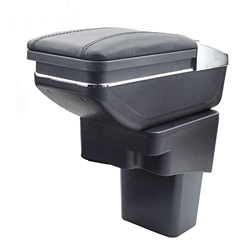 8X-SPEED for Nissan Juke ESQ 2014-2017 Car Armrest Accessories Centre Console Storage Box Arm Rest Black