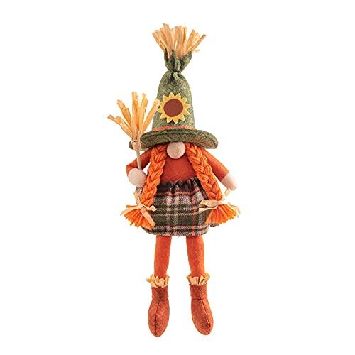 Ni_ka Gnome Plush Witch Halloween Decorations, Halloween Gnomes Decor, Faceless Doll Gnome Plüsch Hexe Halloween Dekorationen, Halloween Gnomes Dekor, gesichtslose Puppe