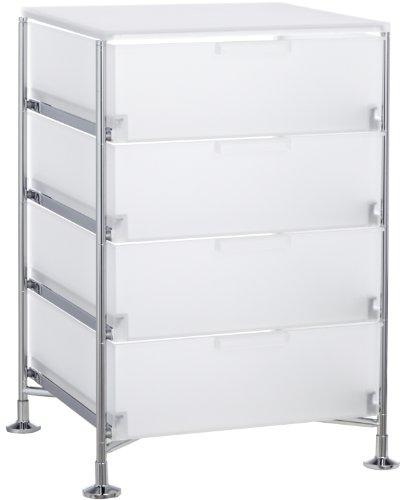 Kartell 2025L1 Container Mobil, 4 Schubladen, eisfarben