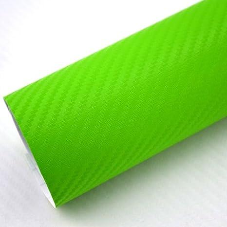 Tiptopcarbon 6 58 M 3d Carbon Folie Grün Blasenfrei 0 3m X 1 52m Mit Luftkanäle Autofolie Selbstklebend Küche Haushalt