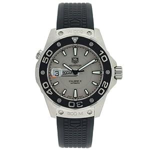 TAG Heuer Men's WAJ2111.FT6015 Aquaracer Calibre 5 Automatic 500M Silver Dial Watch image