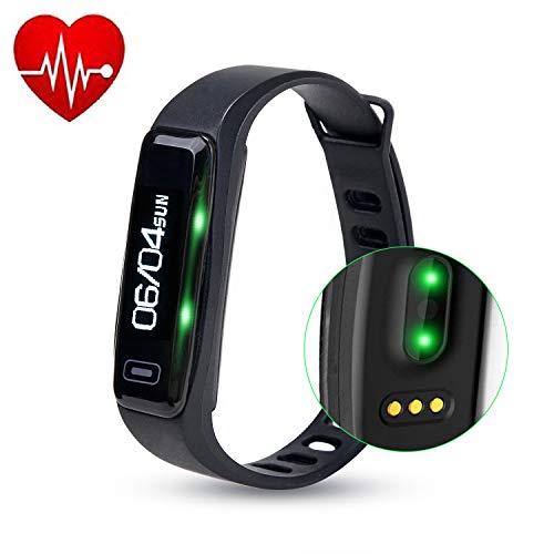 WADEO Fitness Armband, Fitness Tracker Aktivitätstracker Pulsmesser Wasserdicht IP67 Smartwatch Schrittzähler Sportuhr Damen Herren All-in-One Smart Armband