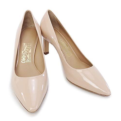 [SALVATORE FERRAGAMO] [サルヴァトーレ フェラガモ] 靴 レディース パンプス エナメルベージュ (FLORA 70 0643456 NEW BISQUE) 7Cサイズ(24cm) エナメルベージュ [並行輸入品]