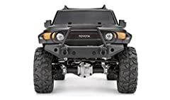 HPI 118146 - Venture Toyota FJ Cruiser 1/10 4WD Crawler RTR, Matte Black Features:  Officially licensed replica Toyota FJ Cruiser body  Functional roof rack plus side mirrors  Front bumper features brush guard, light mounts and D-ring shackles  Rear ...