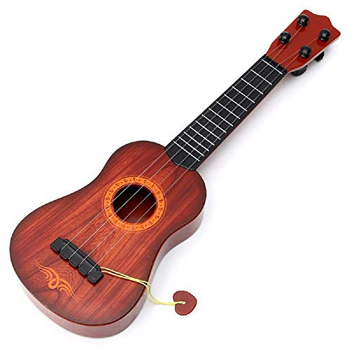 OANGO ® 4-String Acoustic Learning Guitar Toy for Kids , Musical Instrument Educational Guitar Toy for Beginners Kids Child(Brown)