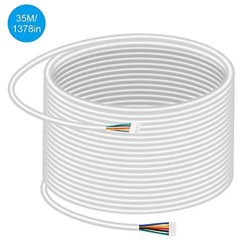 35M deurbel verlengkabel 5-draads 0,5 mm 2 ronde koperen kabel met flexibele installatie voor het deurbel toegangscontrolesysteem